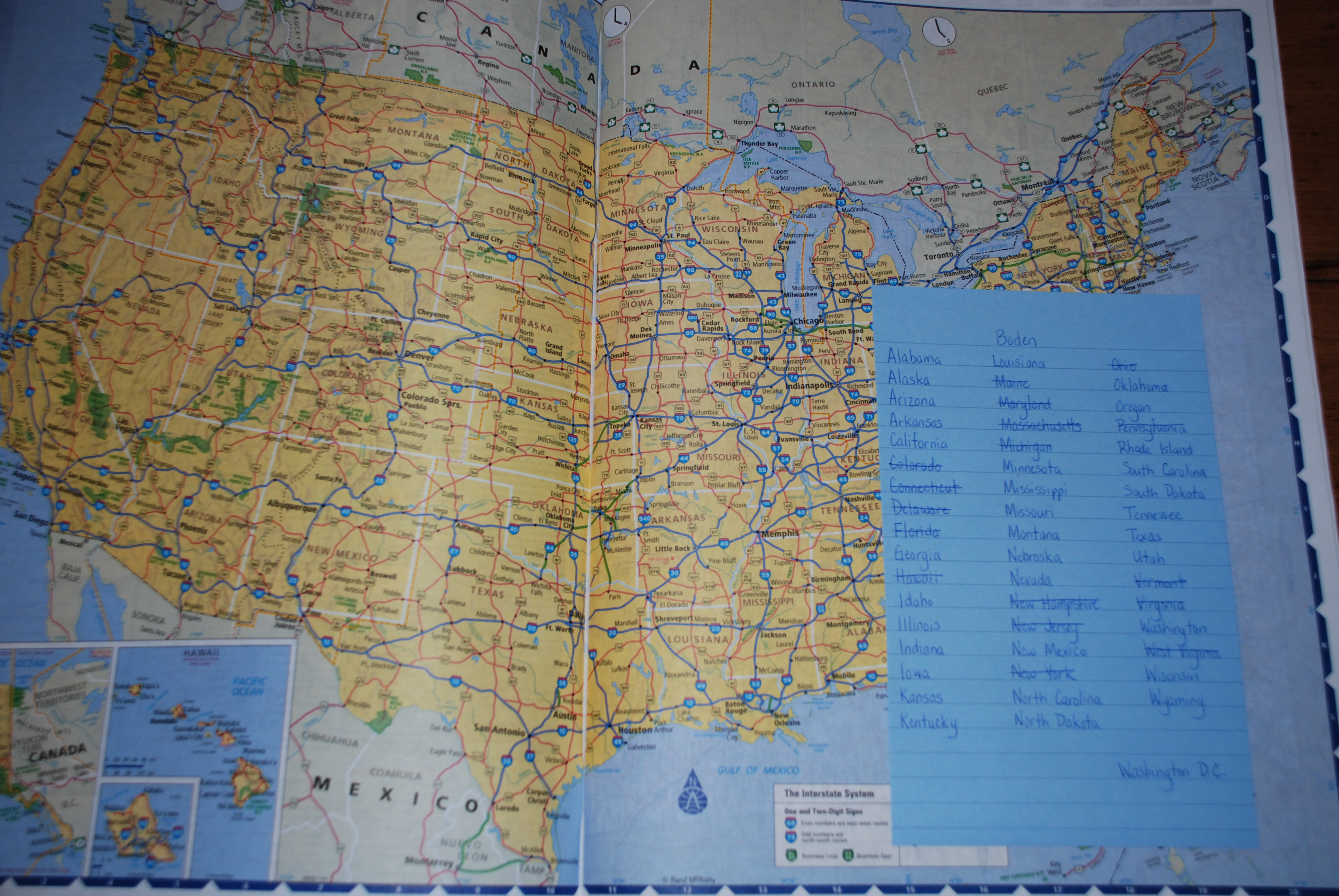 Logging Miles And Collecting States The Good Stuff Guide - Us map with states listed