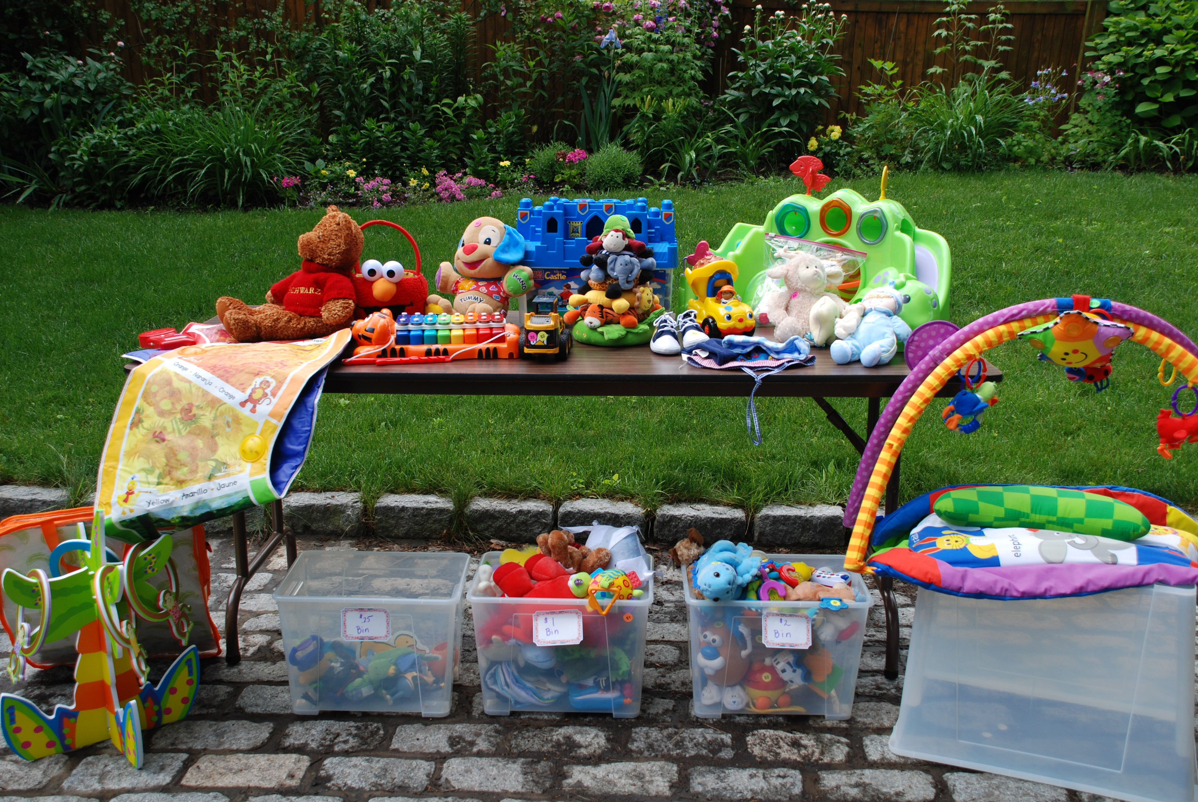 Too many toys Time for a yard sale